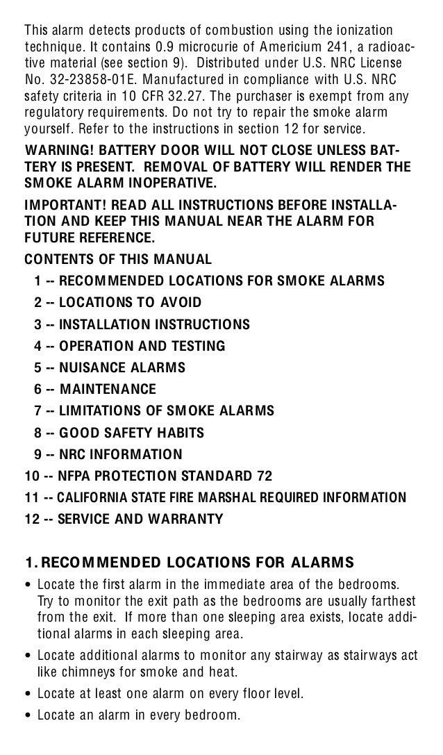kidde smoke alarm instructions