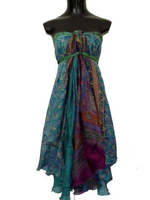 sari wrap dress instructions