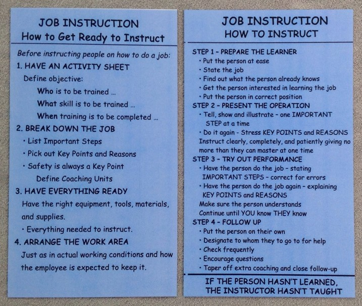 job instruction training steps
