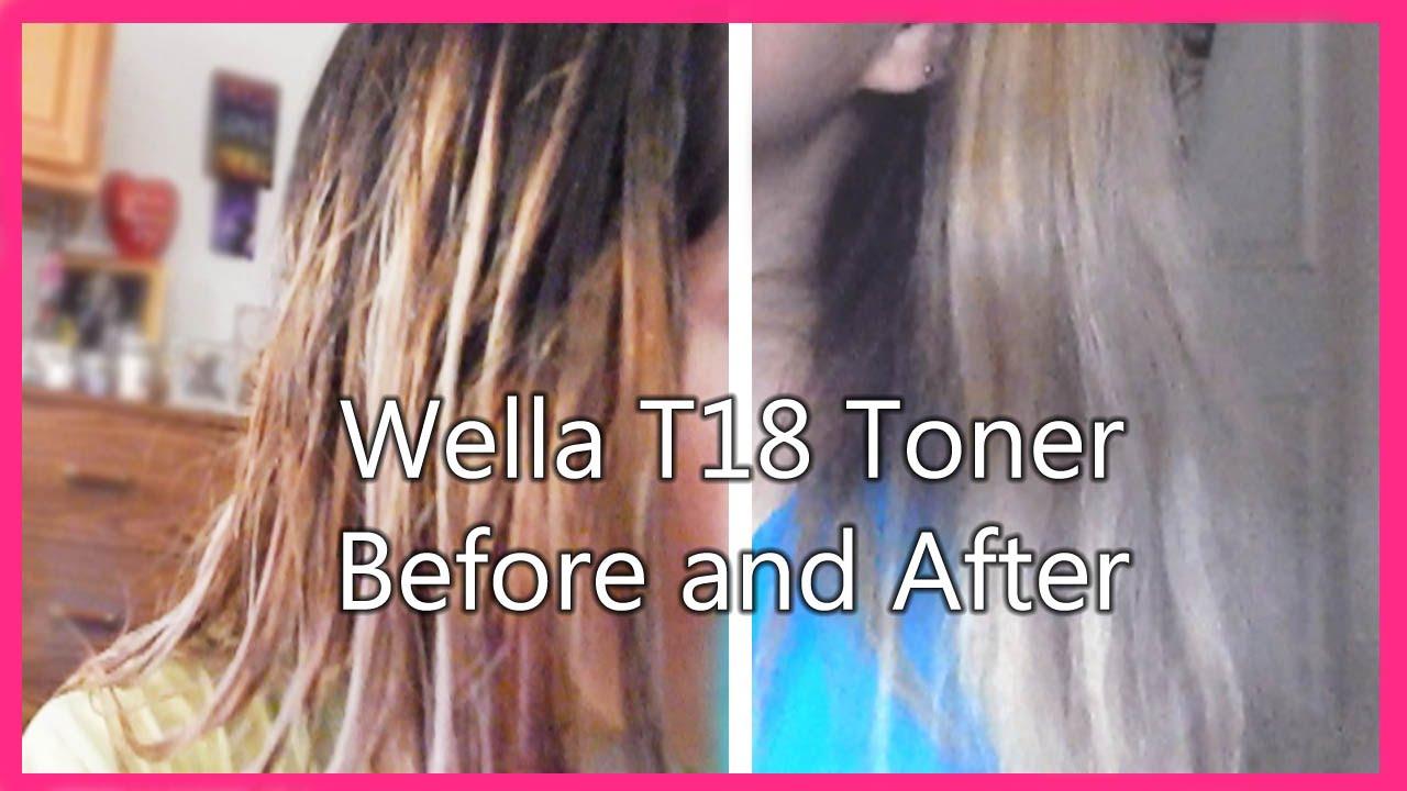 wella toner t18 instructions