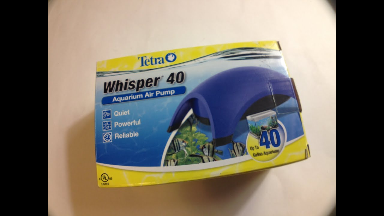 tetra whisper air pump instructions