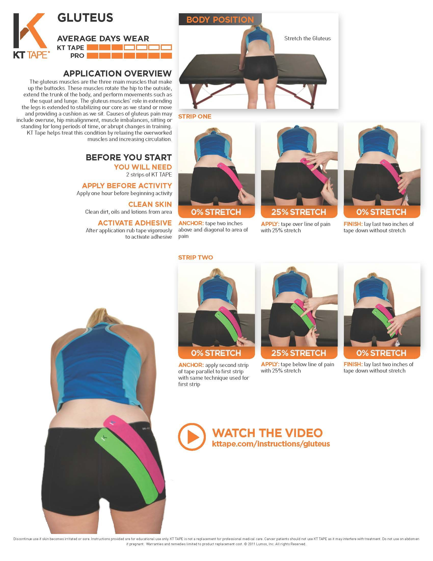 www kttape com instructions knee