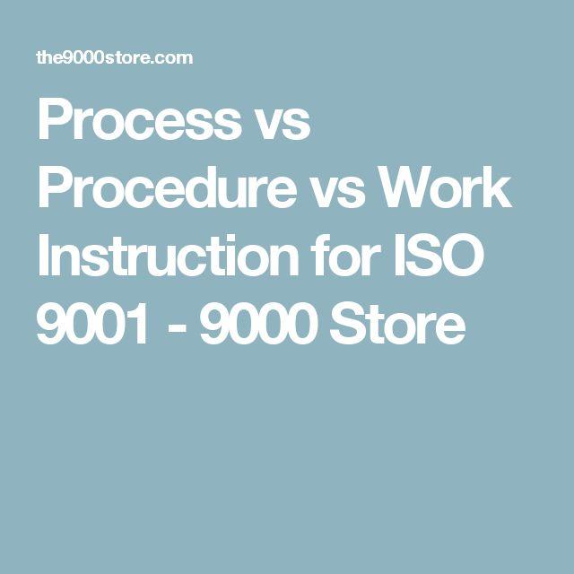 procedure vs work instruction