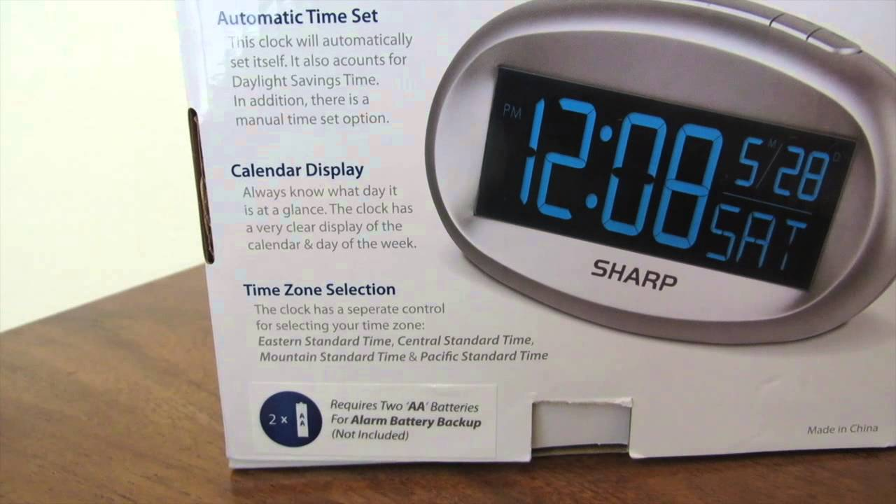 sharp atomic wall clock instructions