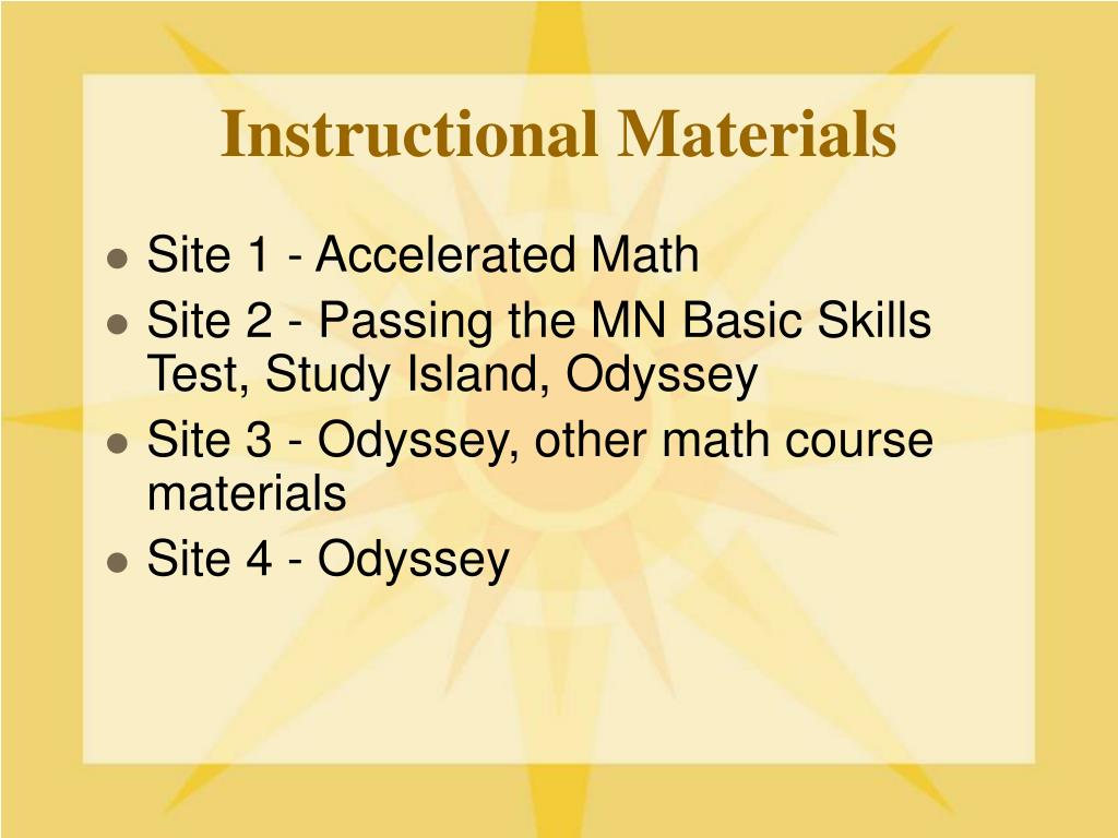 purpose of instructional materials
