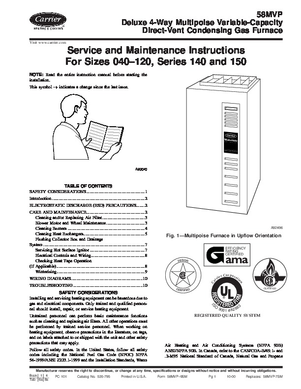 carrier furnace installation instructions