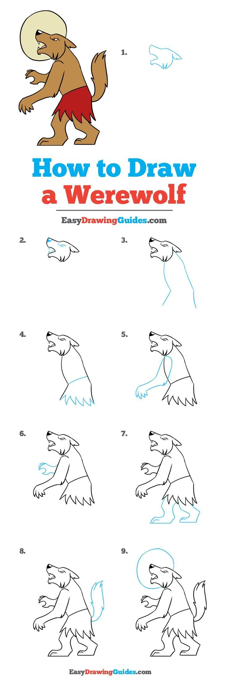 instructions to draw a dog
