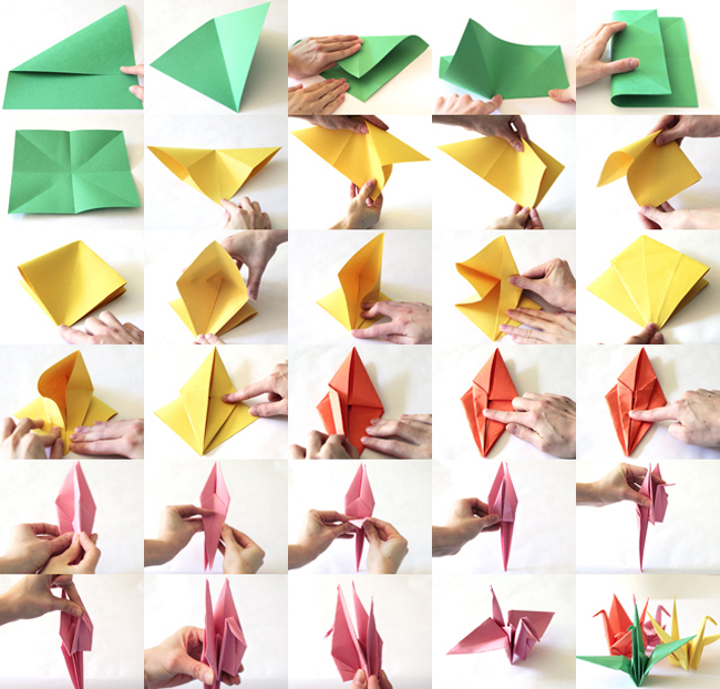 paper crane step by step instructions