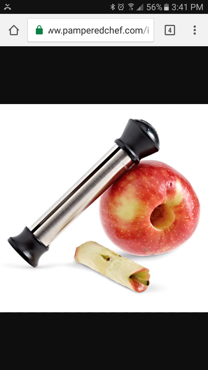 pampered chef apple peeler instruction manual