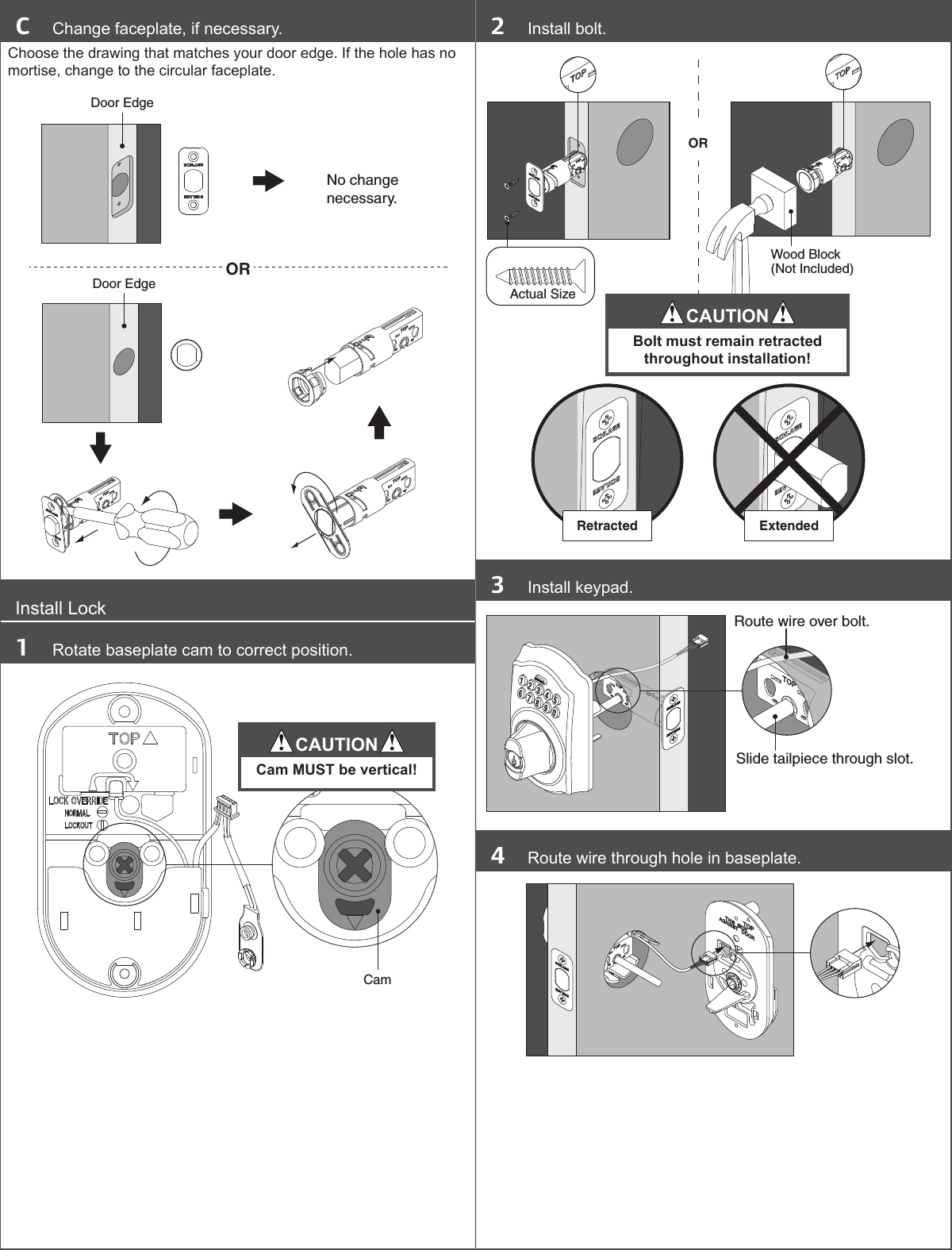 schlage keypad deadbolt installation instructions