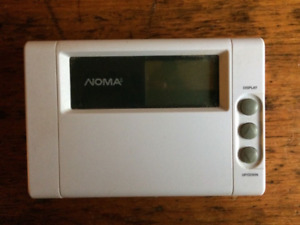 noma programmable thermostat instructions