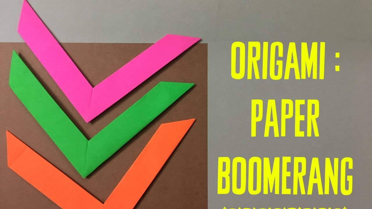 how to make a paper boomerang instructions
