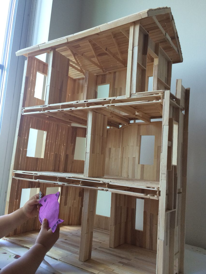 popsicle stick house instructions for kids