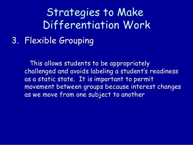 flexible grouping differentiated instruction