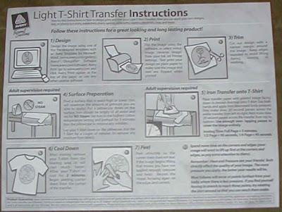 avery tshirt transfer instructions