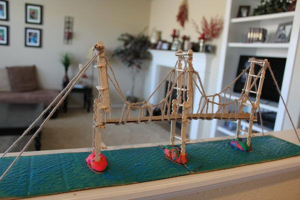 strong popsicle stick bridge instructions