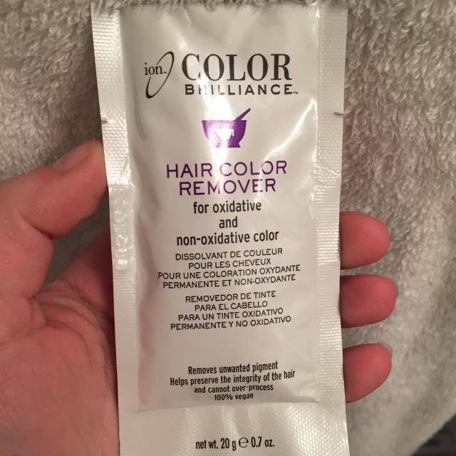 ion hair color remover instructions