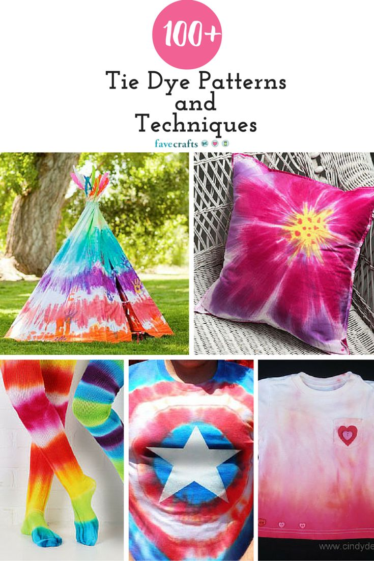 tie and dye patterns instructions