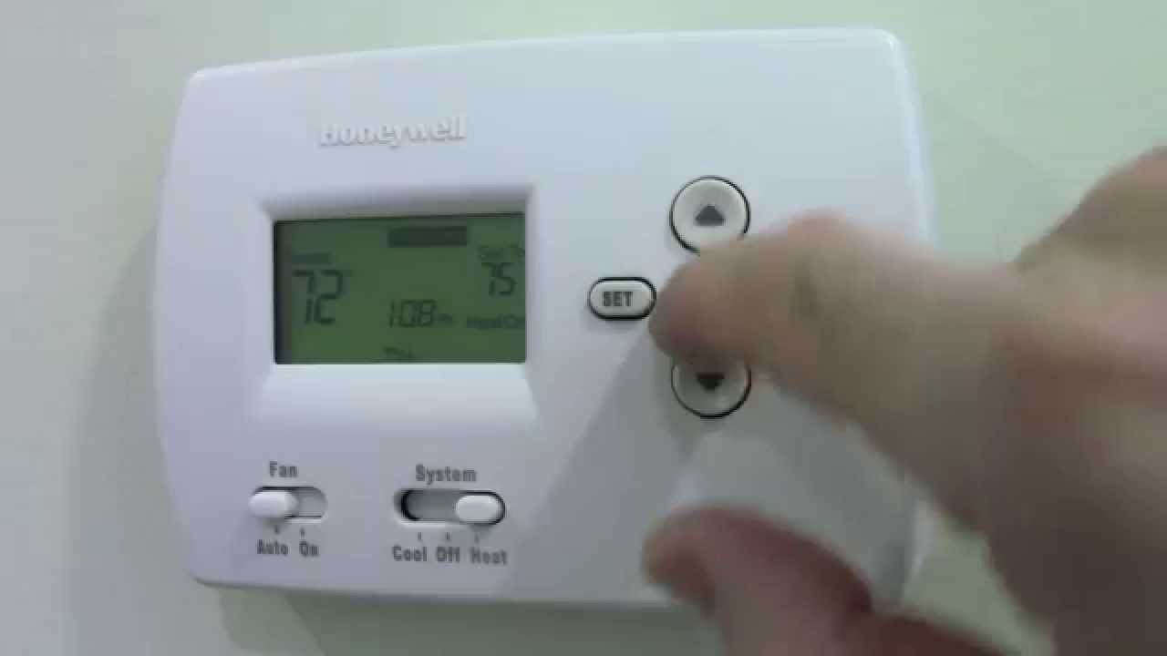 honeywell thermostat instructions youtube