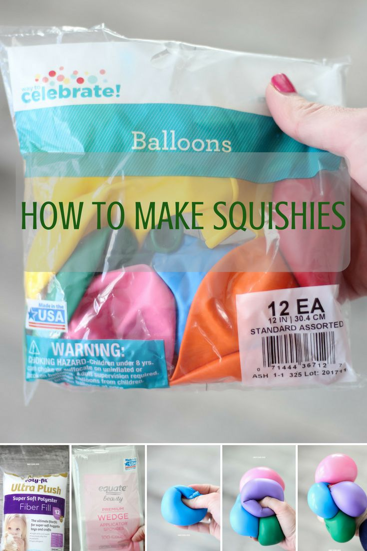 how to make squishies instructions