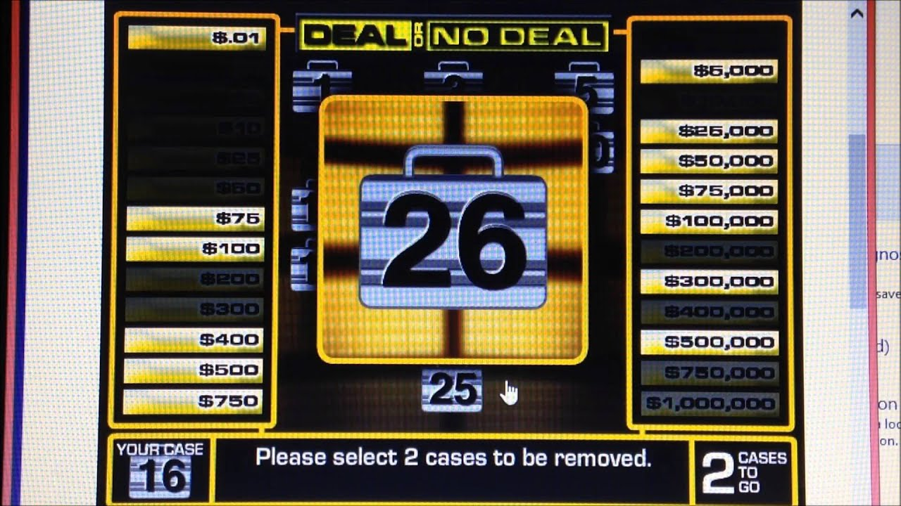 deal or no deal game instructions