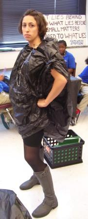 garbage bag dress instructions