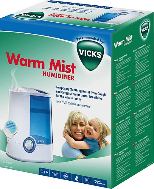 vicks warm mist humidifier instructions