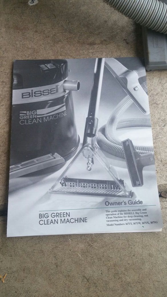 bissell green machine instructions