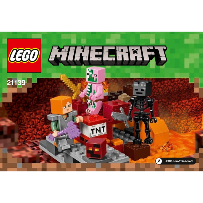 lego minecraft nether instructions