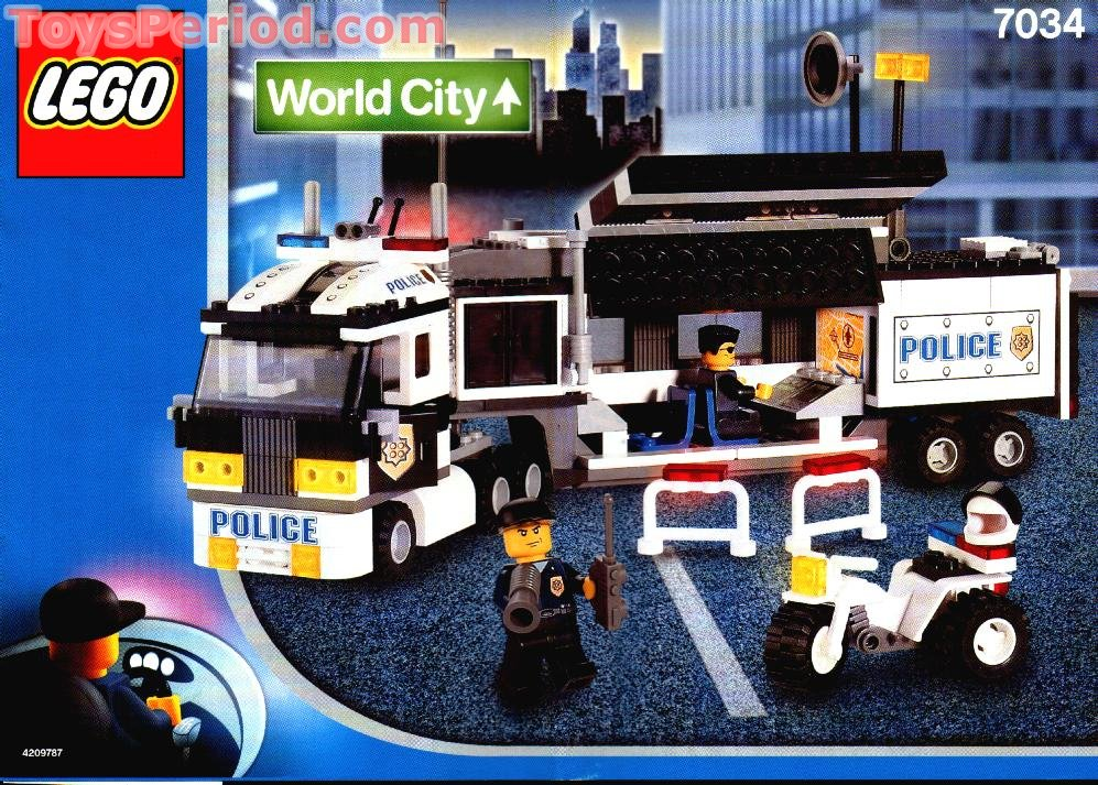 lego police truck 7288 instructions