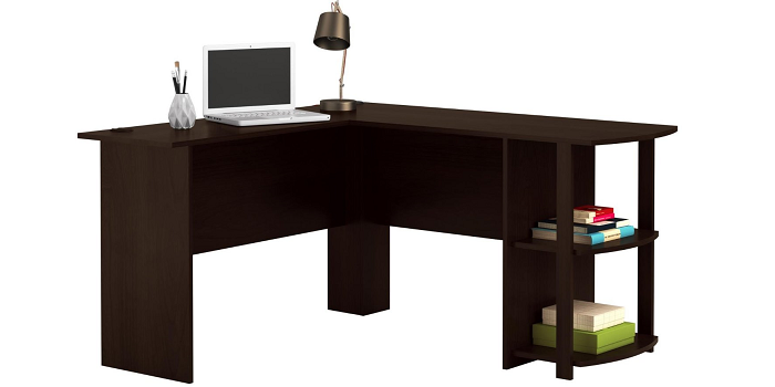 altra dakota l shaped desk with bookshelves instructions