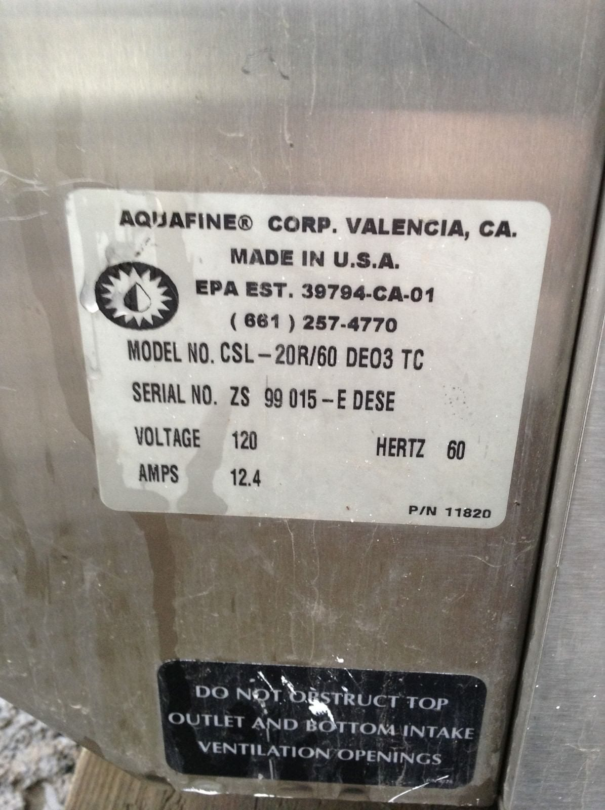 aquafine water softener instructions