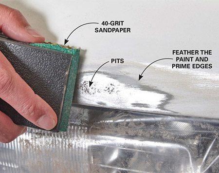 auto body rust repair instructions