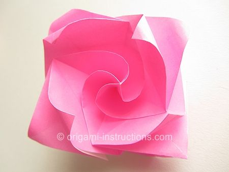 paper folding roses instructions