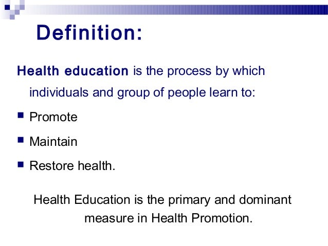 what is health instruction