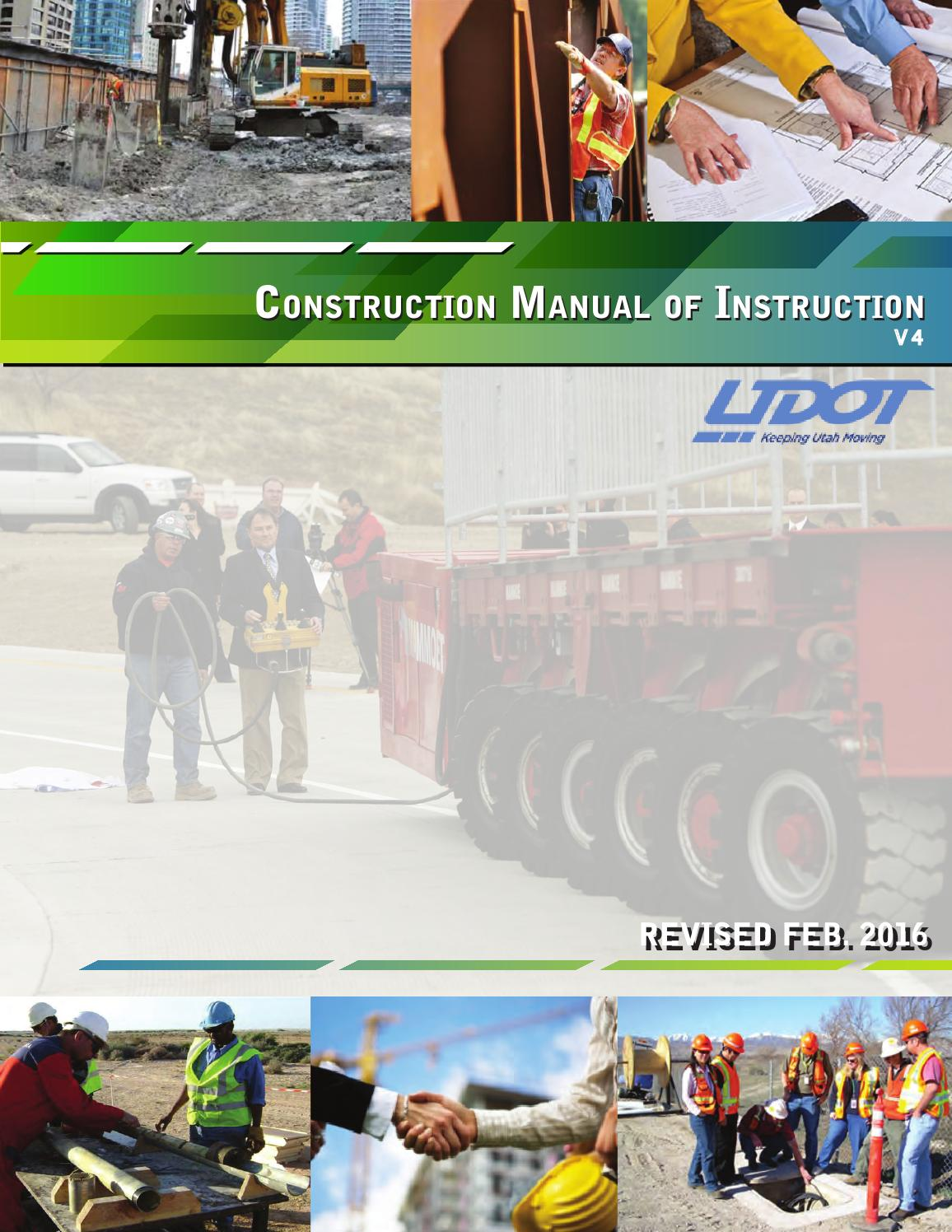 site instruction book for construction