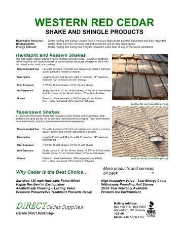 cedar shake installation instructions