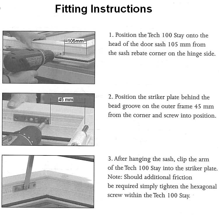 door closer fitting instructions