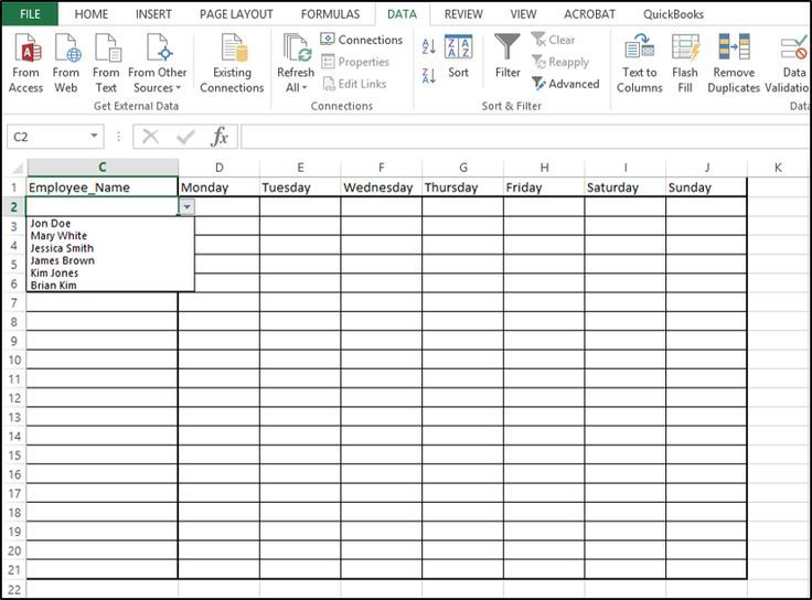 add instructions to excel spreadsheet