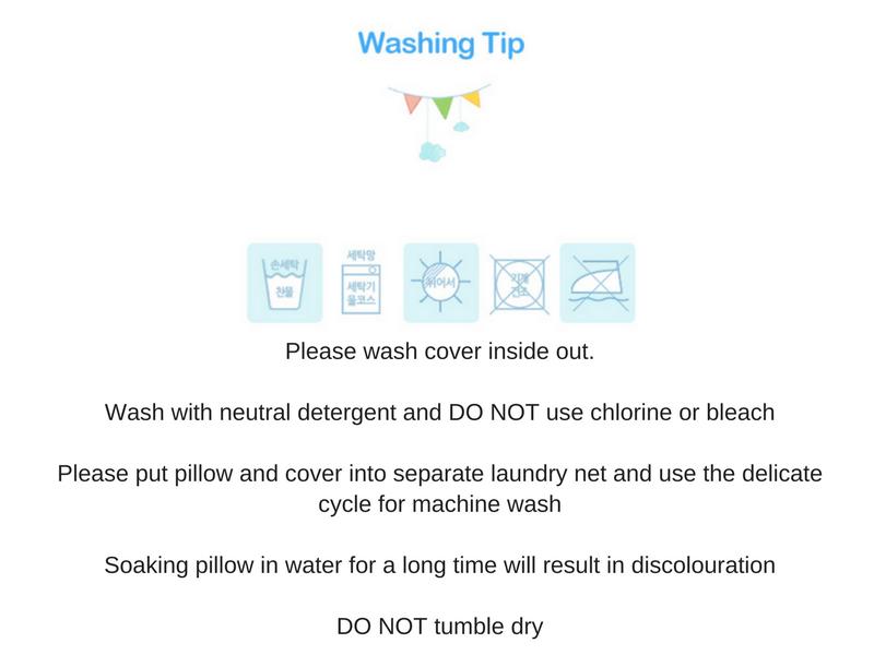bedgear pillow washing instructions