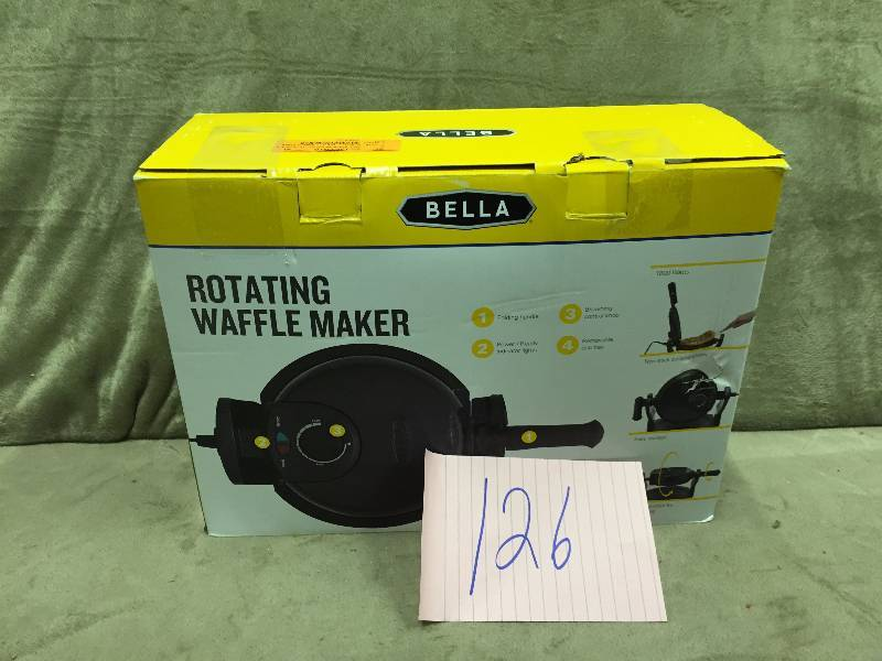 bella waffle maker instructions