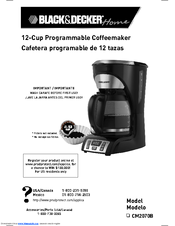 black and decker 5 cup coffee maker instructions