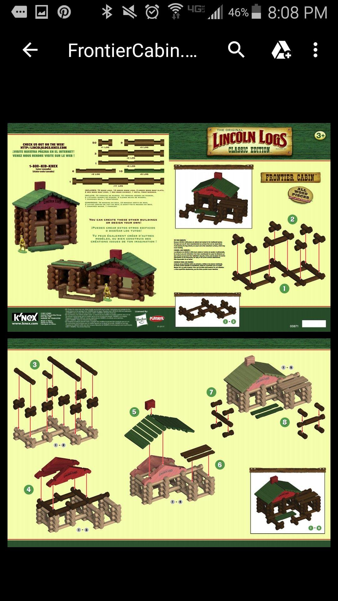 lego log cabin instructions