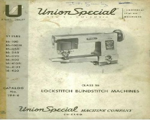 union special sewing machine instruction manual