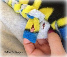 braided fleece blanket instructions