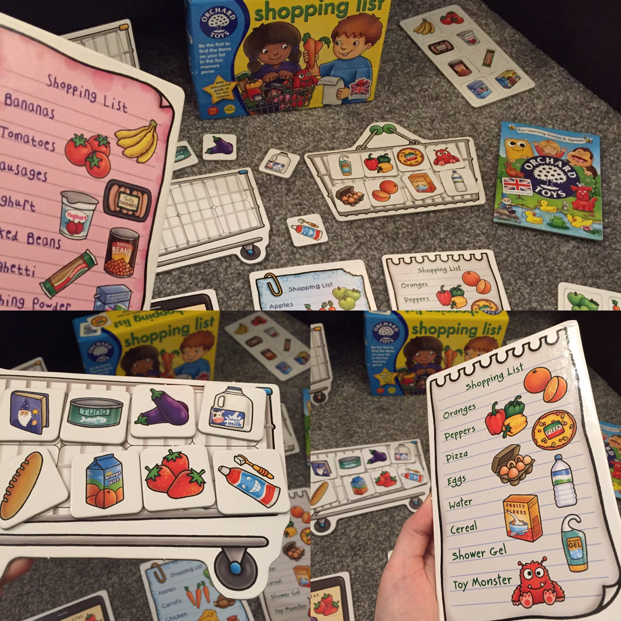 orchard toys shopping list game instructions