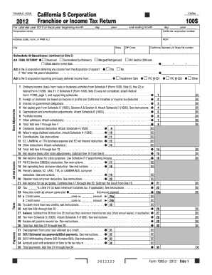 california form 100s instructions