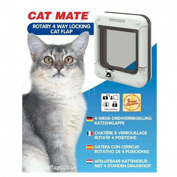 cat mate 4 way locking cat flap instructions
