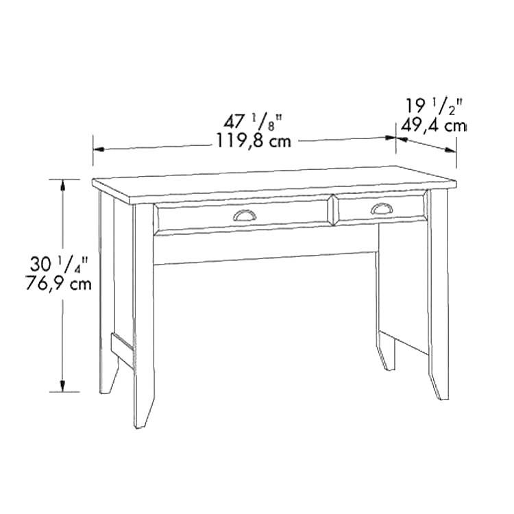 sauder shoal creek desk instructions