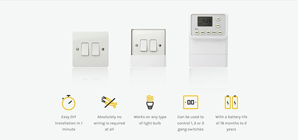 light switch timer instructions